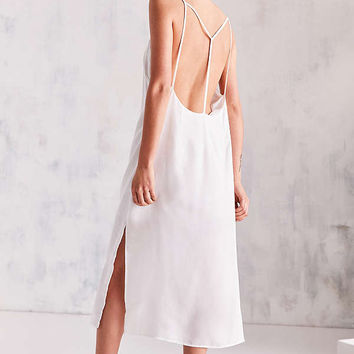 Silence + Noise Strappy Back Shine Midi Slip Dress | Urban Outfitters