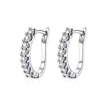 16mm Small Hoop Earrings for Women Girls 14k Gold Plated Fashion Crystal Earring Nice Gifts