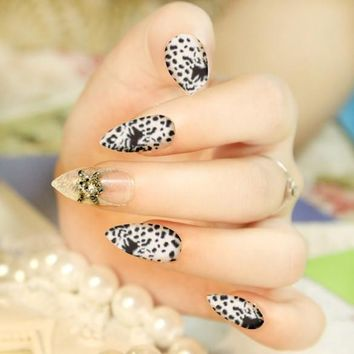 Nail Art Decoration Sticker Decals Animal Pattern Water Transfer Full Wrap 8 Sheets