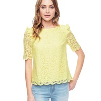 Ornate Lace Top by Juicy Couture,