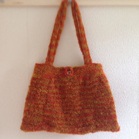 Orange and Yellow Knitted Bag Pattern PDF