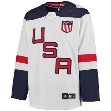 US Hockey adidas World Cup of Hockey 2016 Premier Jersey - White