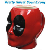 Deadpool Sculpted Head Mug