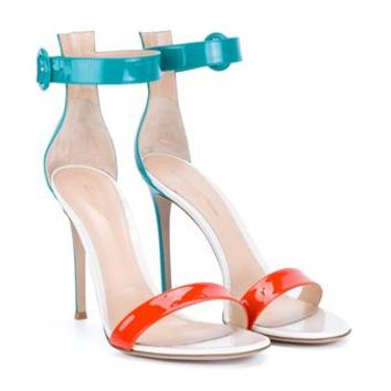 GIANVITO ROSSI   Patent Portofino Sandals   brownsfashion.com   The Finest Edit of Luxury Fashion   Clothes, Shoes, Bags and Accessories for Men & Women