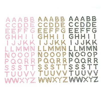 Beaded Pearl Alphabet Letter Stickers, 1/2-Inch, 55-Piece