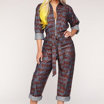 Jenny From The Block Jumpsuit - Dark Demin