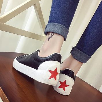 Summer white sneakers ladies casual shoes for Women  leather strap shoes woman