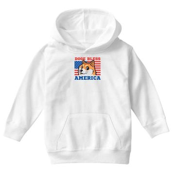 doge bless america Youth Hoodie