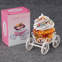 Muffin Ice Cream Pastry Baking Metal Wheel Cupcake Stand