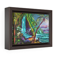 Painted Mermaid On A Hmmock|Tropical Paradise Fantasy|Framed Premium Gallery Wrap Canvas