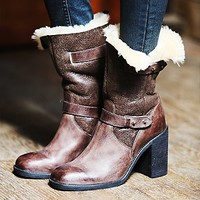 Jeffrey Campbell Womens Arbour Shearling Boot