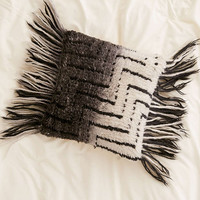 Black + White Ombre Shag Pillow - Urban Outfitters