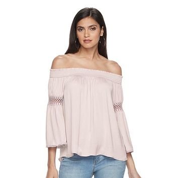 Women's Jennifer Lopez Crochet Off-the-Shoulder Top