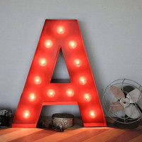 Vintage Inspired Marquee Light Letter A by SaddleShoeSigns on Etsy
