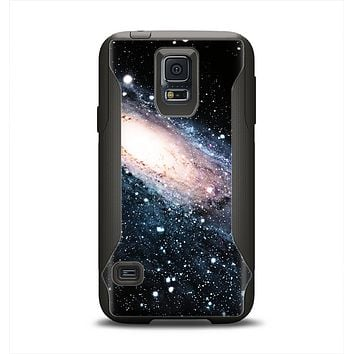 The Swirling Glowing Starry Galaxy Samsung Galaxy S5 Otterbox Commuter Case Skin Set