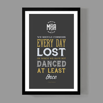 Art print home decor - We should consider Quote Poster - Distressed modern Typographic Print - Friedrich Nietzsche