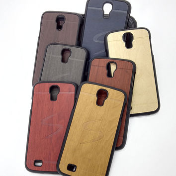 original luxury hard case for samsung galaxy s4 s 4 i9500 mobile phone cover shell by wood back fashion gold black wooden cases