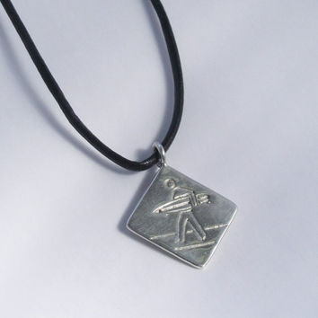 Surfer Crossing in sterling silver