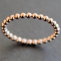 Rose Gold Vermeil Beaded Wire Ring (Various Sizes) - READY TO SHIP