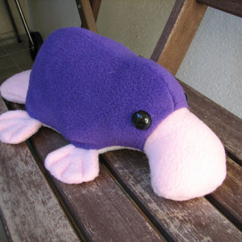 Little Platypus Plushie - Purple and Pink Stuffed Animal Toy