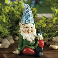 Gnome-Cheery Sitting Solar Light-up