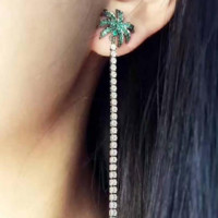 Fashion  Coconut trees  Lovely crystal earrings