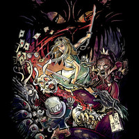 Zombies in Wonderland Art Print by Alice X. Zhang   Society6