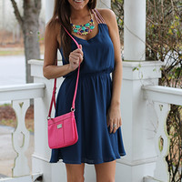 Day To Night Dress, Navy