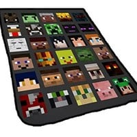 All Character Skin Face Minecraft for Blankets