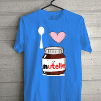 i love nutella Carolina Blue Screen print Funny shirt for t shirt mens and t shirt girl size s, m, l, xl, xxl