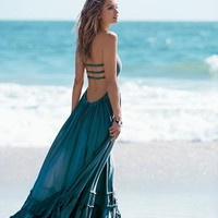 Daisey Boho Ruffle Maxi Dress