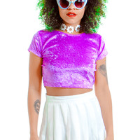 PRE-ORDER: Purple Velvet Dreams Crop Top