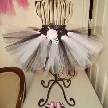 Cute child's tutu with fun zebra shake by Thoughtzthatcount