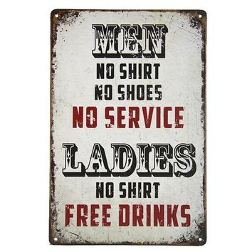 DL Bedroom art wall Metal Poster Retro Pub Home Craft Decor Vintage Wall art painting 20*30 CM Mix Items White