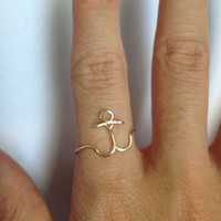 Anchor Adjustable Colored Wire Ring
