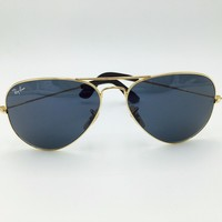 Cheap Ray Ban RB3025 183/R5 Aviator Large Metal Solid Gold Aviator Gray Sunglasses. outlet
