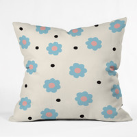 Gabi Sophie Blue Outdoor Throw Pillow