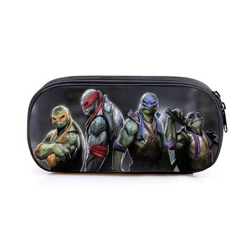 Teenage Mutant Ninja Turtles TMNT Boys Girls Cartoon Pencil Case Bag School Pouches Children Student Pen Bag Kids Purse Wallet
