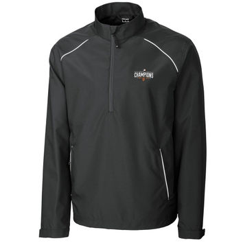 San Francisco Giants Cutter & Buck 2014 MLB National League Champions Beacon 1/2 Zip Jacket - Black