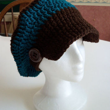 CIJ SALE 10% Newsboy Slouchy Brim Hat - Crochet Newsboy Hat For teens and women