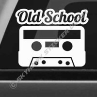 Cassettte Tape Old School Bumper Sticker Vinyl Decal Retro Classic Car Truck SUV