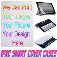 USA Customize Personal Your Design or Photo On IPad Air, IPad Mini, IPad 4/3/2 Smart Cover PU Leather Magnetic Sleep Wake Case #000