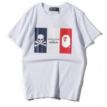 Trendsetter Bape X Mmj Woman Men Fashion Casual Shirt Top Tee