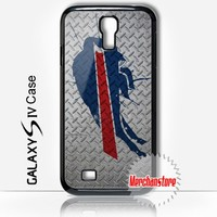 Samsung Galaxy S4 Case Buffalo Bills Painted on Metal - S4 i9500 Cover