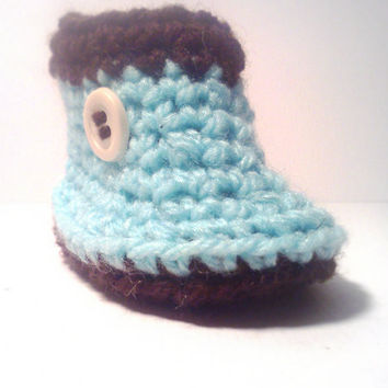 Crocheted Baby Booties Rain Boots Custom Photography Prop