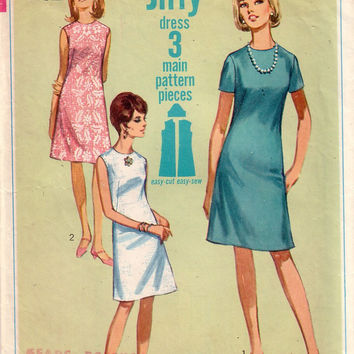 Vintage Simplicity 7072, Misses Dress, Size 14
