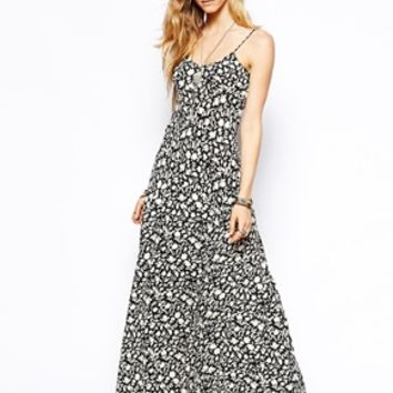Flynn Skye Ballerina Maxi Dress in Shadow Flower Print - Shadow flower