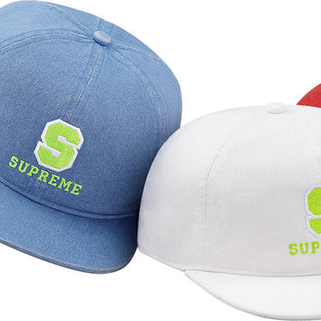 Supreme Fitted Denim Varsity 6-Panel
