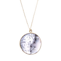 Round Agate Pendant Necklace