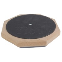 Yibuy Dumb Drum Soft Rubber Double Side Practise Pad Grey and Black 6 Inches